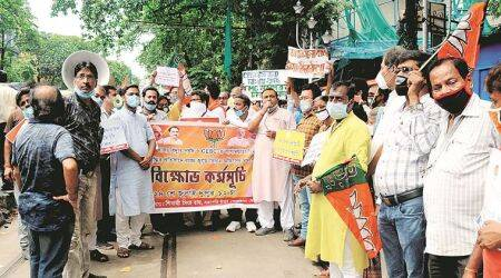 BJP calls for rollback of 'inflated' power bills, protests outside offices of CESC