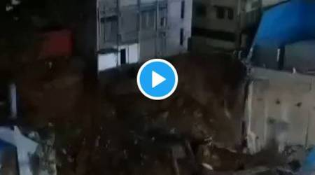 Watch: Three-storey building collapses at Bengaluru's Majestic, no casualties
