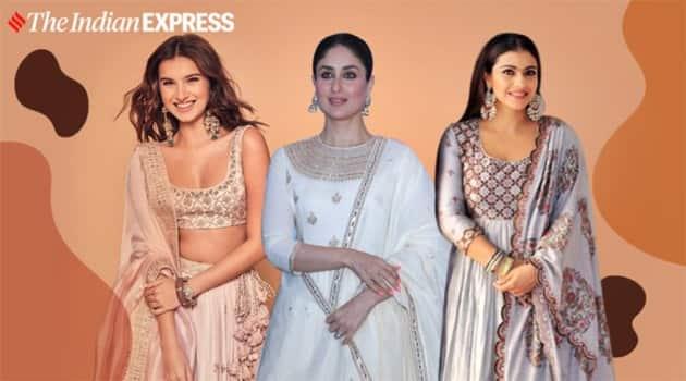 kareena kapoor, punit balana outfits, tara sutaria, kajol in punit balana outfits, indian express, indian express news