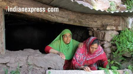 Jammu and kashmir, community bunkers, Line of Control. community bunkers LOC< Kashmir community bunkers, India news, Indian express