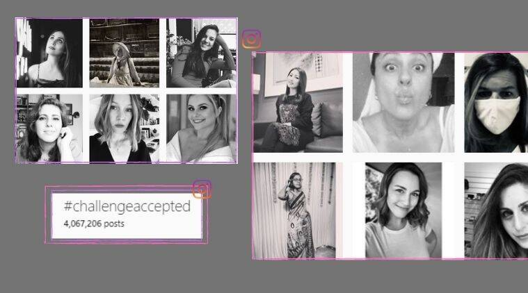 #Challenge accepted, social media challenge, Black and white picture challenge, Women empowerment, Internet challenge, Trending news, Indian Express news