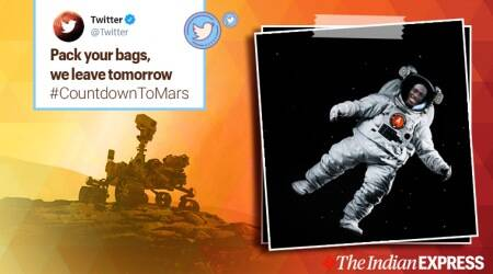 nasa mars mission, mars perseverance launch, Perseverance Mars Rover, countdown to mars, Twitter perseverance rover launch, twitter mars mission spacesuit makeover, viral news, indian express