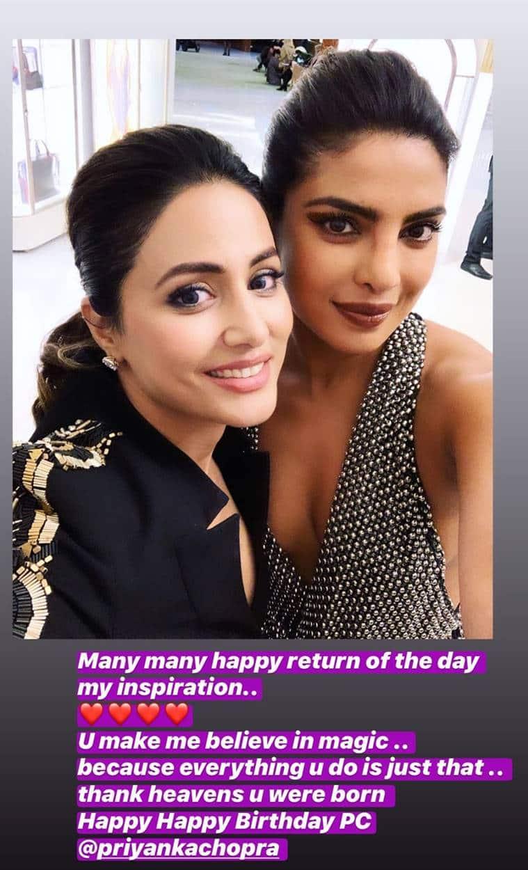 Hina Khan with Priyanka Chopra