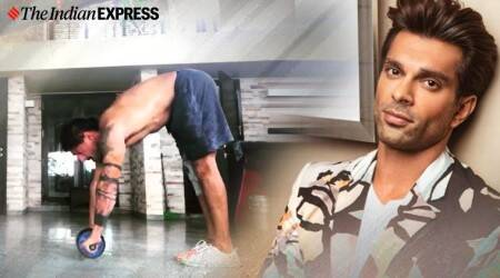 abs workout, indianexpress.com, indianexpress, abs wheel workout, karan singh grover fitness, fitness goals, core workout,