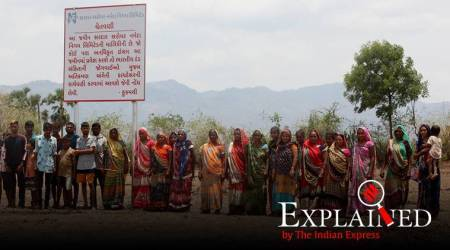 Statue of Unity protests, Statue of Unity Gujarat, Kevadia protests, Kevadia land acquisition, Indian Express