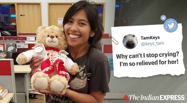 Stolen teddy bear with dying mom's message found, Canada, missing teddy, viral story, missing teddy found, trending, indian express, indian express news