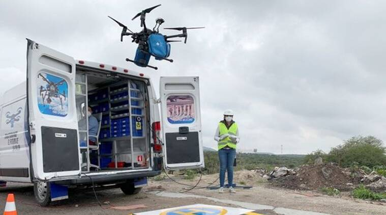 Mexico, Drone delivery, Medical supplies, COVID-19, Coronavirus, Mexico COVID-19 updates, Trending news, Indian Express news