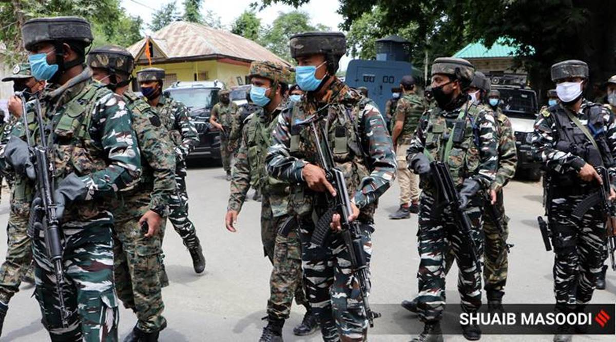 Srinagar militant attack, policemen killed, security forces, Jammu and Kashmir news, Indian express news