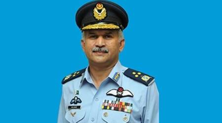 Pakistan air force, Paf, paf chief, Pok, Mujahid Anwar Khan, indian express