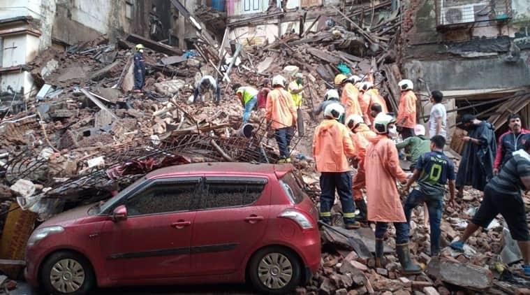 mumbai building collapse, Mumbai chawl collapse, Malvani chawl collapse, Mumbai rains, Mumbai fort area building collapse, Mumbai weather, Mumbai Malvani chawl collapse, Mumbai news, city news, Indian Express