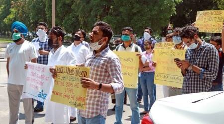 PU student groups protest against final exams, submit memorandum to syndics