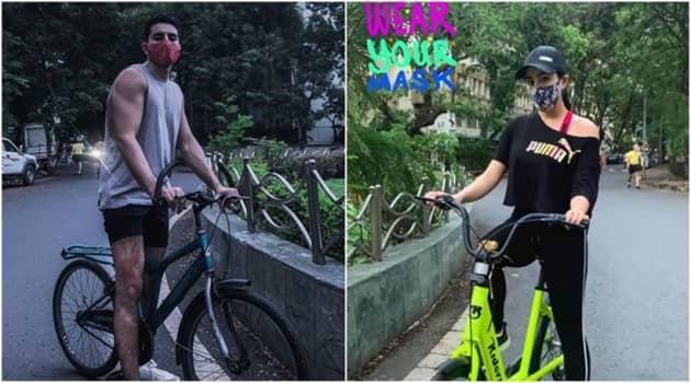 sara ali khan cycling