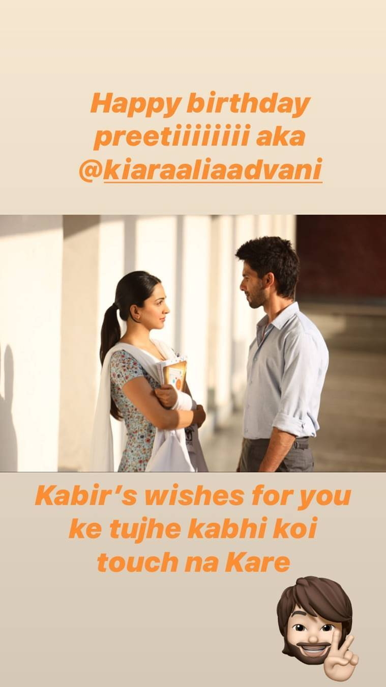 shahid kapoor wishes kiara advani