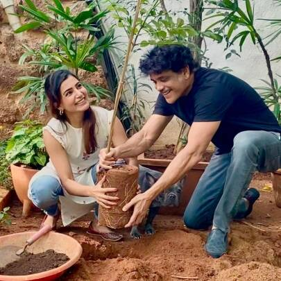 samantha akkineni with nagarjuna
