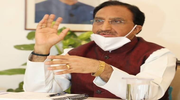 Education Minister Ramesh Pokhriyal Nishani live, education policy, NEP 2020 live discussion, understanding nep, harappa online, education news