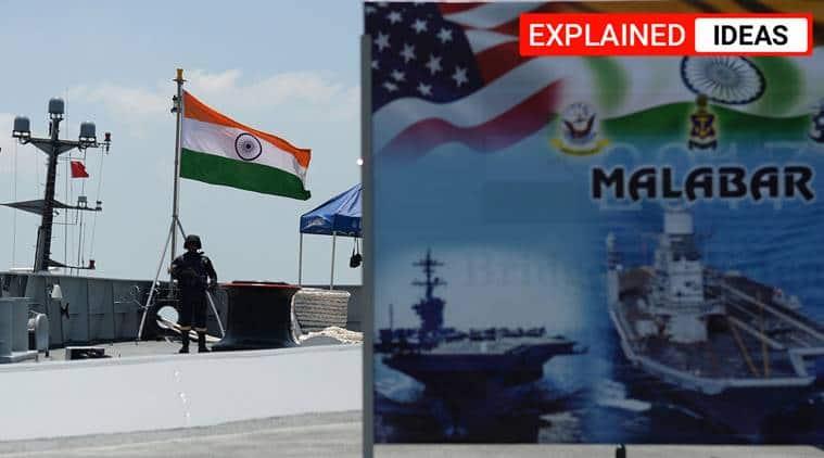 Quad initiative, India quadrilateral naval exercise, China naval exercise, China, China Quad initiative, Indian Express