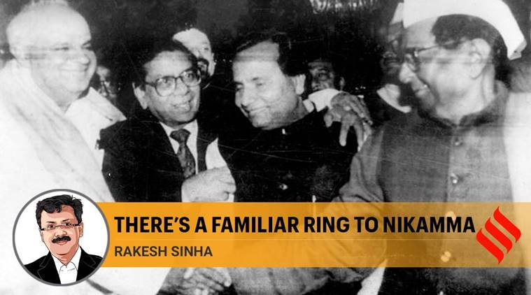 rajasthan ashok gehlot, ashok gehlot nikamma jibe, sachin pilot, rajasthan political crisis, H D Deve Gowda, dr Manmohan Singh, Sitaram Kesri