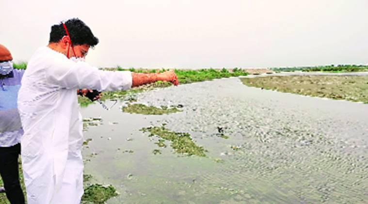 Water storage plan, Yamuna floodplains, Arvind Kejriwal, Raghav Chadha, Indian express news