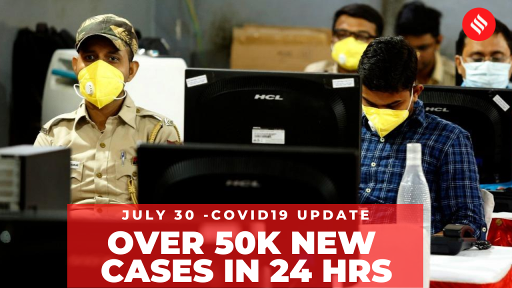 Coronavirus on July 30, Over 50k new Covid-19 cases reported in last 24 hrs