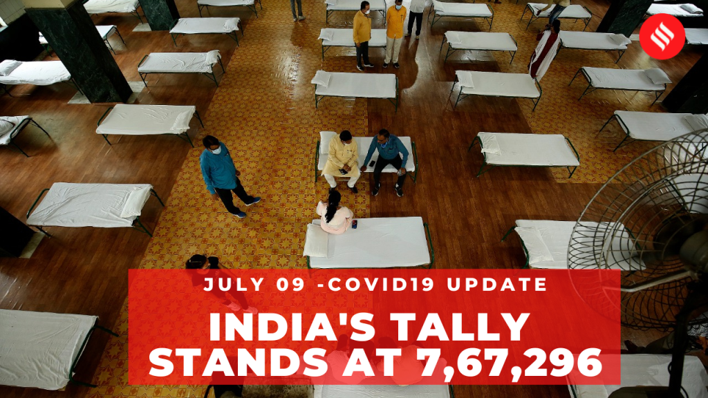 Coronavirus on July 09, India's tally stands at 7,67,29