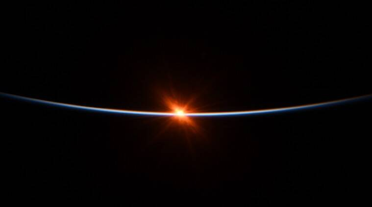 Sunrise from space, Photos of space, International Space Station, International Space Station sunrise, International Space Station SpaceX, SpaceX, Bob Behnken, International Space Station photos, sunrise photos