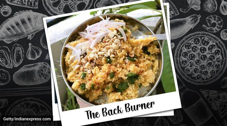Gujarati recipes, street food recipes, locho, Surti locho, breakfast recipes, snack recipes, the back burner