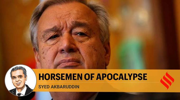 United Nations, Antonio Guterres, Coronavirus pandemic, COVID-19, Syed Akbaruddin writes, Express opinion,