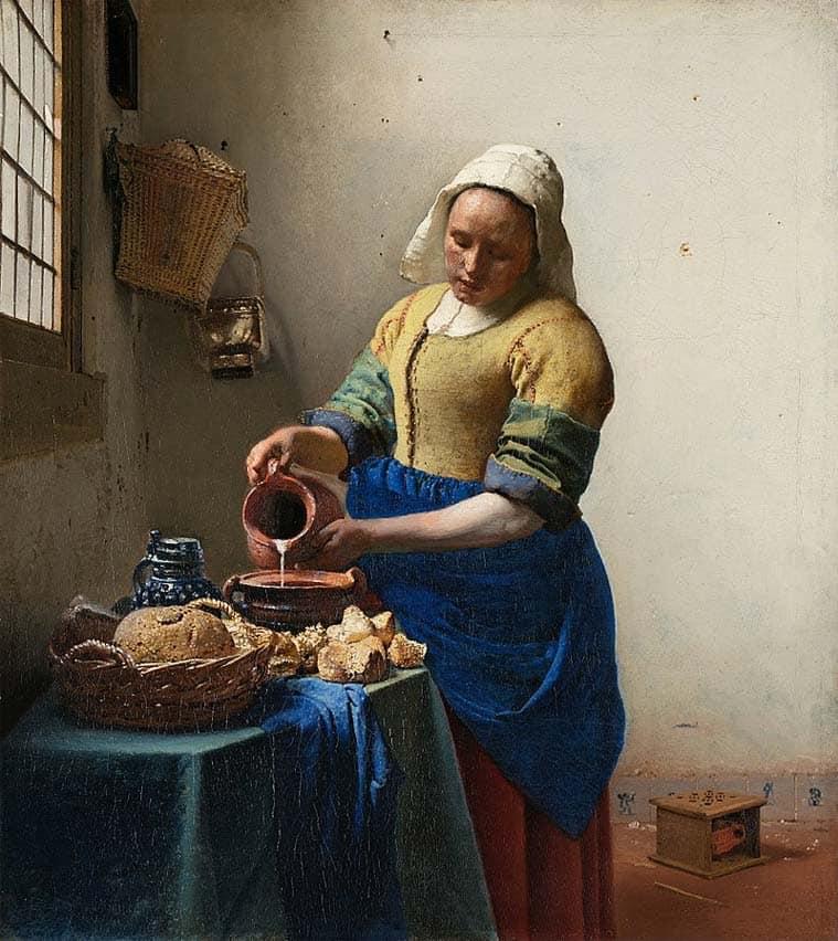 Bose Krishnamachari, artists, loneliness in art, artworks, The Milkmaid by Johannes Vermeer,