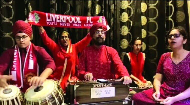 Liverpool fan Gurmukh Singh, Liverpool Anthem indian twist, LFC anthem Indian, Gurmukh Liverpool Fan