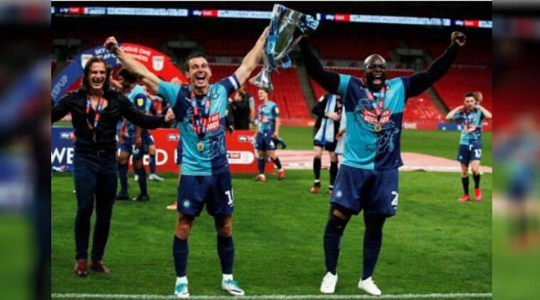 Wycombe Wanderers,Wycombe Wanderers win promotion to Championship for first time, second-tier Championship for the first time, 2-1 win over Oxford United, League One playoff final
