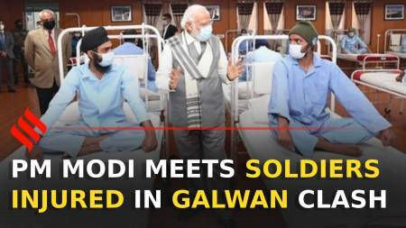 PM Modi meets soldiers in Leh hospital injured in Galwan valley clash