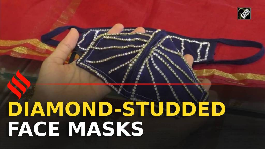 Diamond-studded masks' demand emerge in Surat | Wedding Mask Surat