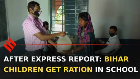 After Express report, children in Bihar begin to get ration in school