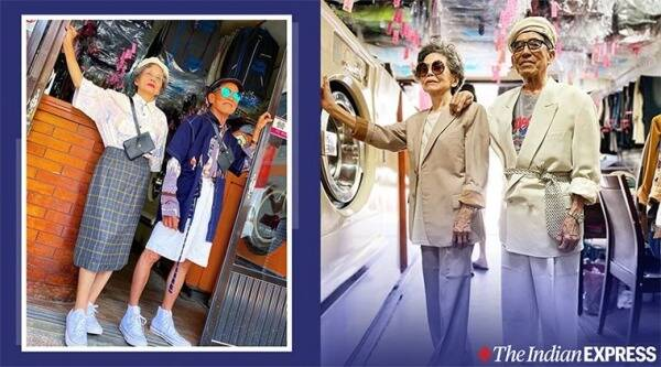 taiwan laundry couple, taiwan laundromat couple, elderly laundry shop couple fashion, , want show as young, forgotten laundry fashion remodelling, viral news, good news, indian express