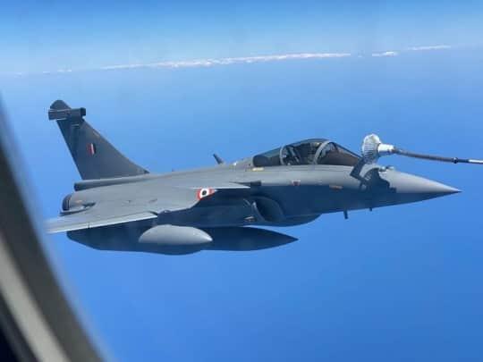 Rafale aircrafts, Rafale aircrafts India France, Rafale jets India France, Rafale jets mid air refuel, mid air refule Rafale jets, indian express news
