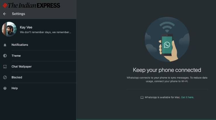 How to enable dark mode on WhatsApp Web - The Indian Express