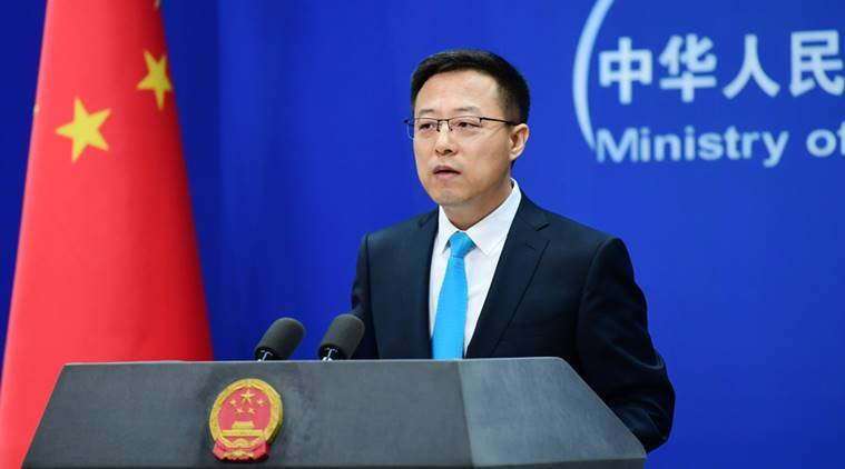 China's Foreign Ministry spokesperson Zhao Lijian