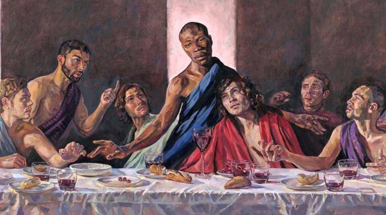 One of Britain's oldest churches has said it will install a reimagined version of The Last Supper painting that portrays Jesus Christ as a black man