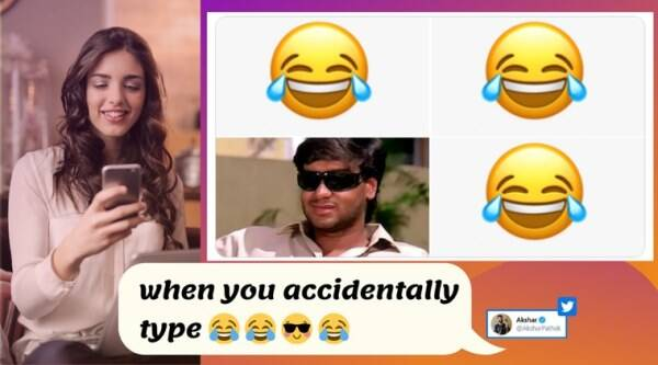 when you accidentally type meme, when you accidentally type emoji, latest meme template, funny meme template, viral news, indian express