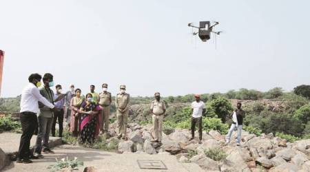 Aerial seeding to increase green cover in Aravallis