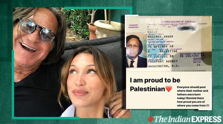 bella hadid, bella hadid father passport, instagram bella hadid palestine post, instagram bella hadid bullying, Mohammed Hadid palestine, viral news, indian express