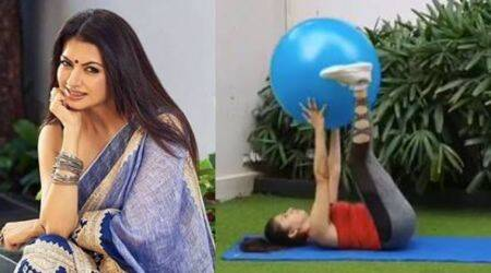Bhagyashree, ab workout