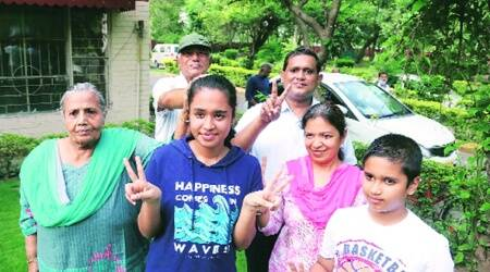 High Five: Panchkula Bhavan Vidyalaya's five students score 99 per cent, bag joint first position in the Tricity