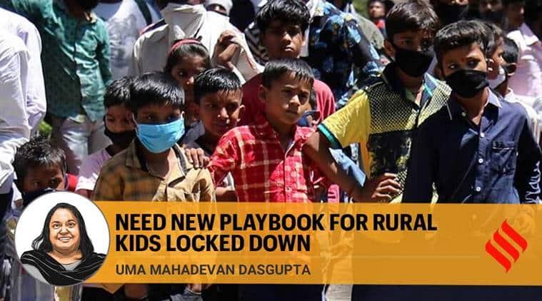 coronavirus impact on children, coronavirus impact on rural children, Bhagalpur, Bhagalpur children rice distribution, mid day meal, anganwadi, coronavirus lockdown, India news, Indian Express