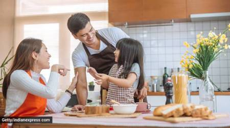 cooking with child, parenting