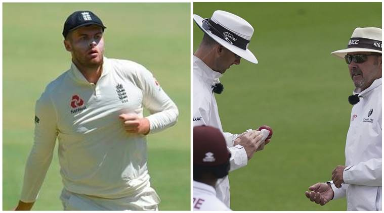 England vs West Indies: Umpires disinfect cricket ball after ...