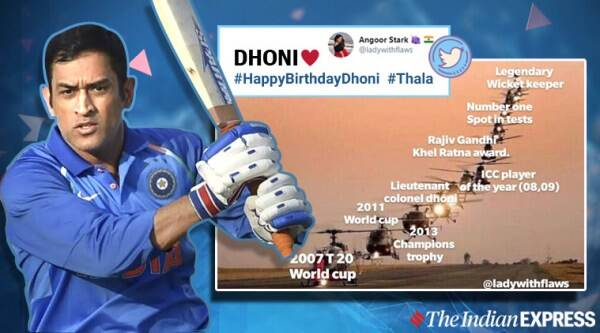Mahendra Singh Dhoni, ms dhoni, ms dhoni birthday, happy birthday dhoni, dhoni memes, ms dhoni birthday wishes, viral news, cricket news, sports news, indian express