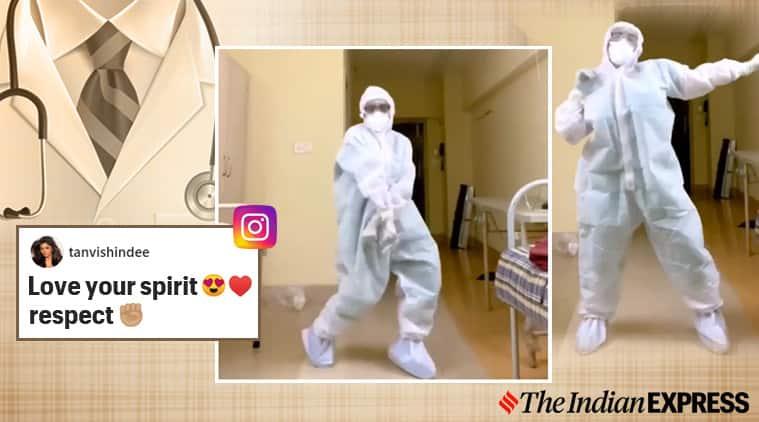 doctors day, street dancer garmi song, doctor dancing garmi viral video, trending, indian express, indian express news