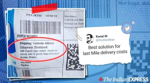 Delivery address, Online package delivery address, Flipkart package address, eCommerce, online shopping, Flipkart shopping, Trending news, Indian Express news