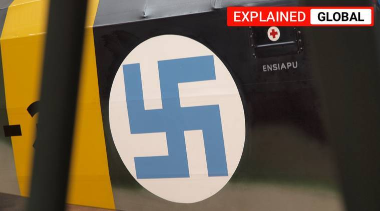 Finland's air force, Finland air force swastika symbol, Finland's air force logo, Finnish air force, Swastika symbol, indian express